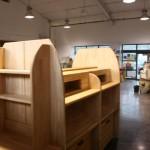 mobilier et agencement professionnels épicerie bio vrac, réalisé par 2 bois et d'acier (ferronnerie ébénisterie dieulefit drôme)