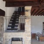 rampes et garde-corps intérieur en fer forgé, réalisé par 2 bois et d'acier (ferronnerie ébénisterie dieulefit drôme)