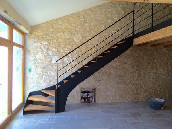 2Bois & d\'Acier – Ferronnerie – Ébénisterie – Forge > escalier 1/2 ...