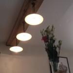 luminaires plafonnier bois et fer, réalisé par 2 bois et d'acier (ferronnerie ébénisterie dieulefit drôme)