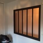 verriere acier finition noir mat réalisé par 2 bois et d'acier à dieulefit drôme (ferronnerie ébénisterie forge)