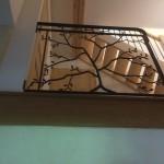 garde-corps fer forgé réalisée par 2 bois et d'acier (ferronnerie, ébénisterie, forge à dieulefit drôme)