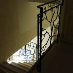 rampes d'escalier réalisé par 2 bois et d'acier (ferronnerie ébénisterie forge à dieulefit drôme)